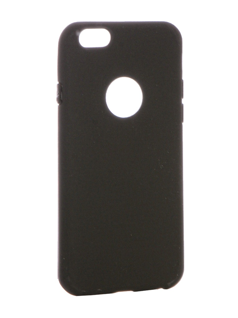 Аксессуар Чехол Krutoff для APPLE iPhone 6 / 6S Silicone Black 11802 аксессуар чехол krutoff silicone для iphone 6 6s light blue 11808