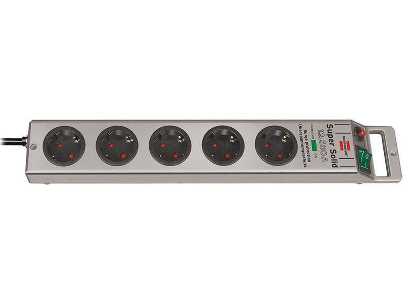 Сетевой фильтр Brennenstuhl Super-Solid 5 Sockets 2.5m 1153340315