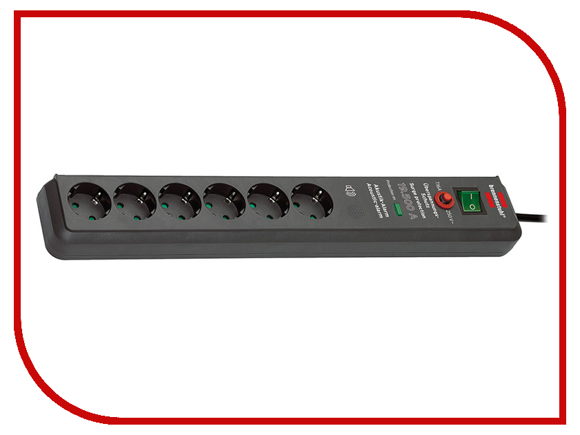 Сетевой фильтр Brennenstuhl Secure-Tec 6 Sockets 3m 1159540376 сетевой фильтр brennenstuhl secure tec 6 sockets 3m 1159540376
