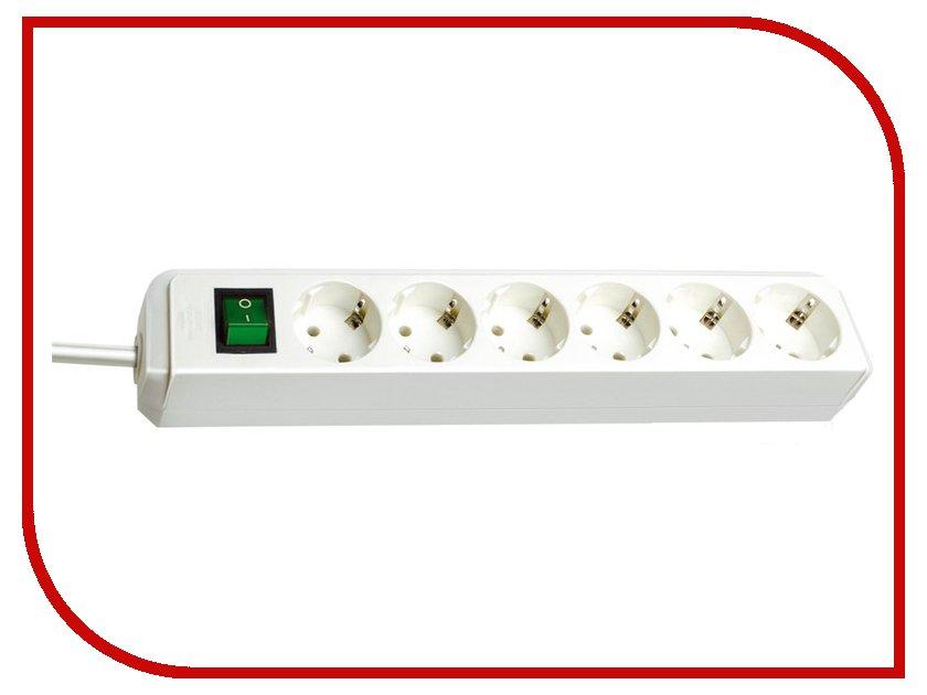 Сетевой фильтр Brennenstuhl Eco-Line 6 Sockets 1.5m White 1159520015 удлинитель brennenstuhl premium alu line 3м 6 роз заземл 1391000016