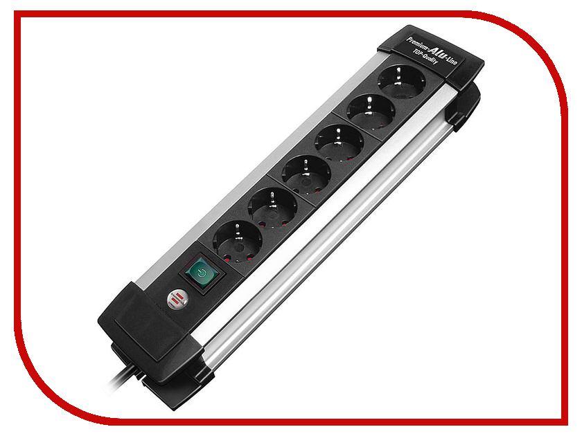 Сетевой фильтр Brennenstuhl Premium-Alu-Line 6 Sockets 3m 1391000016 сетевой фильтр brennenstuhl secure tec 6 sockets 3m 1159540376