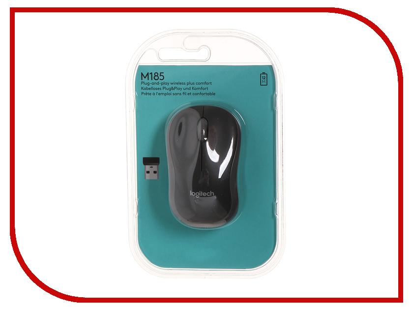 Мышь беспроводная Logitech M185 Dark-Grey 910-002238