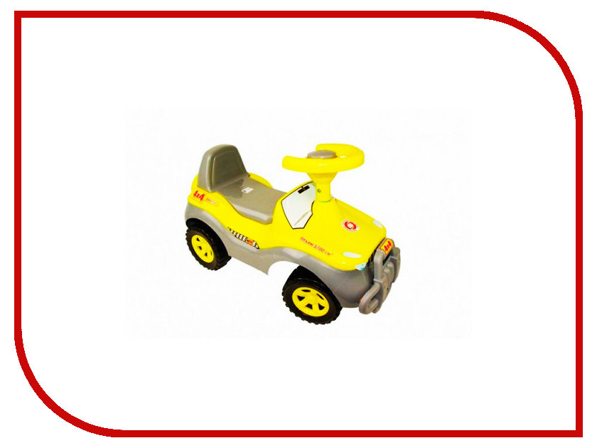 Игрушка Orion Toys Каталка Джипик Yellow 105-YEL karolina toys игрушка каталка колесо