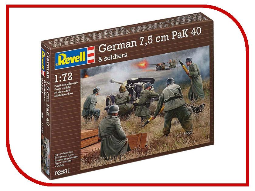 Сборная модель Revell Противотанковая пушка German PaK40 и расчет 02531R звезда модель советская противотанковая пушка зис 3 с расчетом