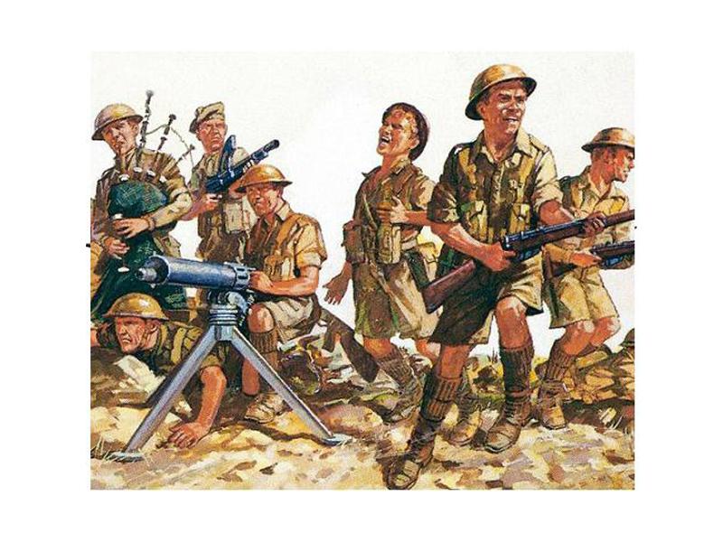 Сборная модель Revell 8-я британская армия 2-ая Мировая война 02617R revell гидросамолет arado 196 a 3 2 ая мв немецкий