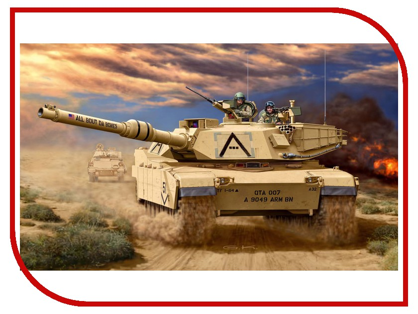Сборная модель Revell Abrams 03112R конструкторы revell танк m 1 a1 ha abrams