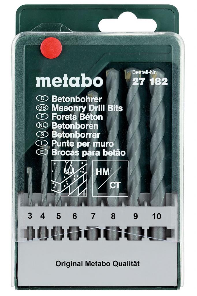 Набор сверл Metabo HM Classic 8шт 627182000