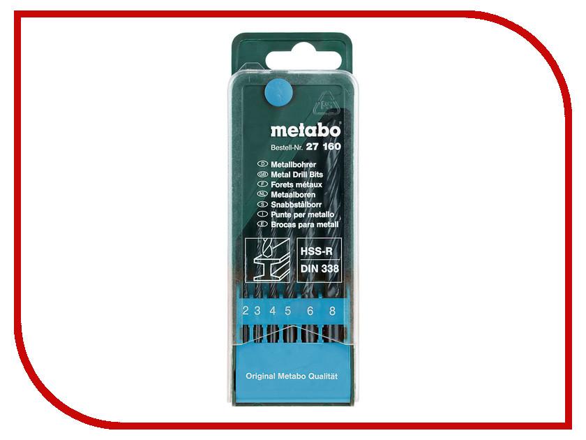 Набор сверл Metabo HSS-R 6шт 627160000