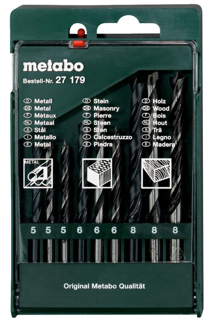 Набор сверл Metabo 9шт 627179000