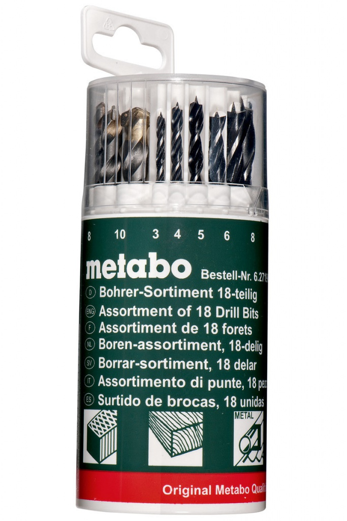 цены Набор сверл Metabo 18шт 627190000