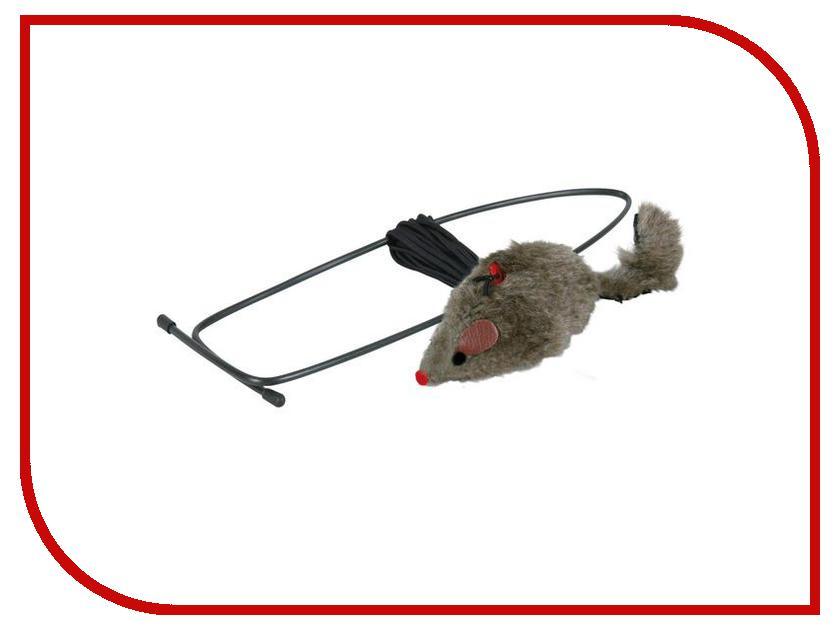 Игрушка Трикси Мышь на резинке 4065