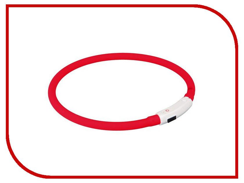 Ошейник Трикси XS–S Red 12660 трикси мигающий ошейник для собак xs–s 35 см ф 7 мм силикон красный usb