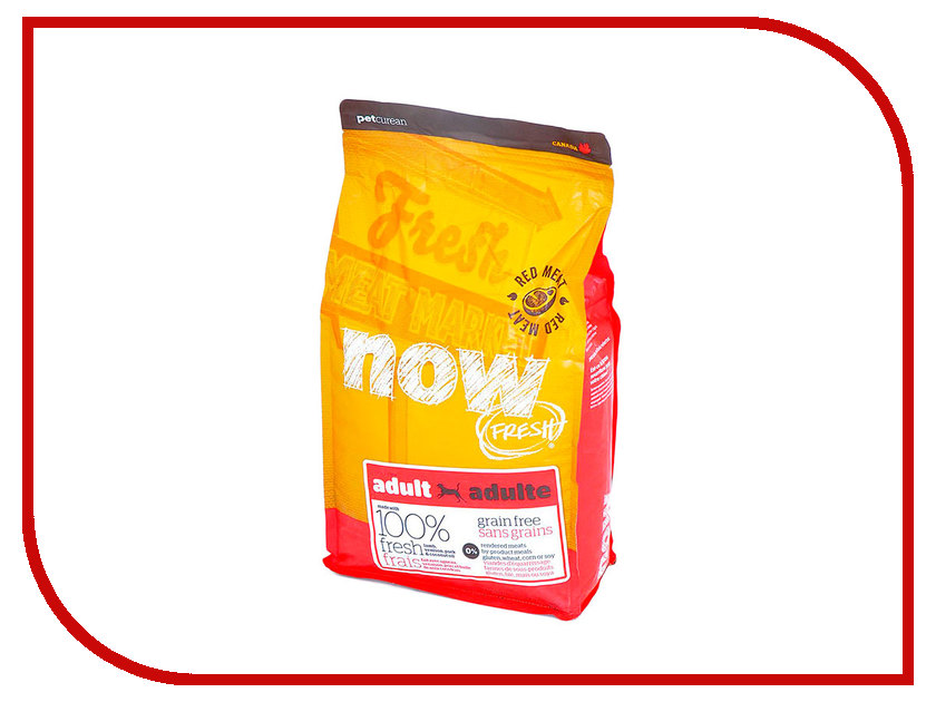 Корм NOW FRESH Беззерновой с Олениной и ягненком 2,72kg для взрослых собак 42848 корм now беззерновой для собак с олениной и ягненком пак 2 72кг