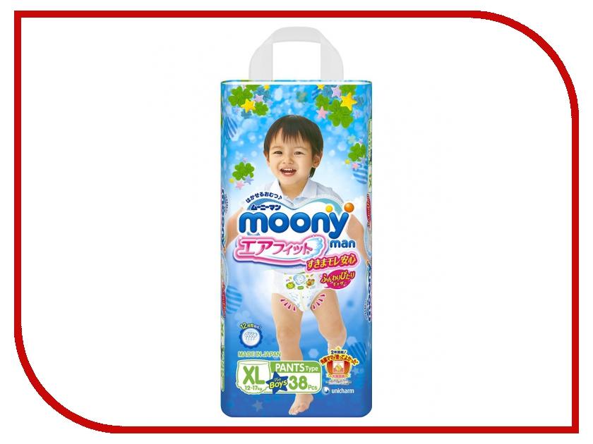 Подгузники Moony XL 12-17кг 38шт для мальчиков 4903111184712