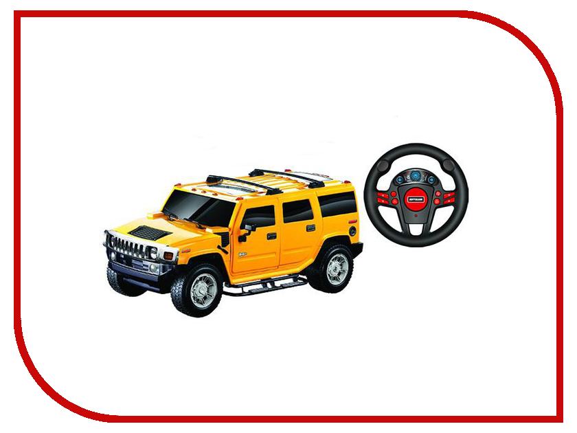 машины kidztech а м 1 26 hummer h2 Игрушка Hoffmann Hummer H2 1:24 47956 Yellow