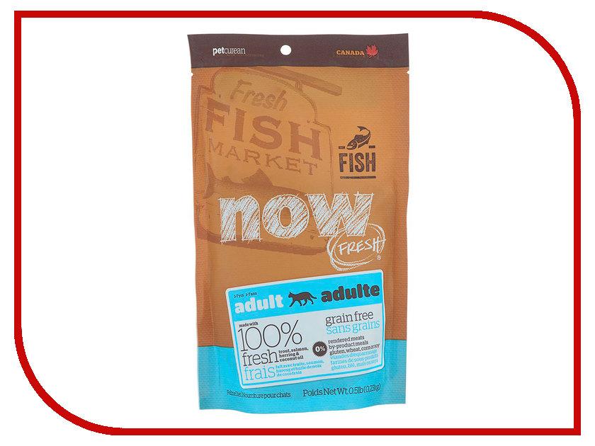 Корм Now Fresh Беззерновой c Форелью и лососем 230g чувствительного пищеварения,для взрослых кошек 42853 консервы для кошек monge lechat с лососем и креветками 100 г