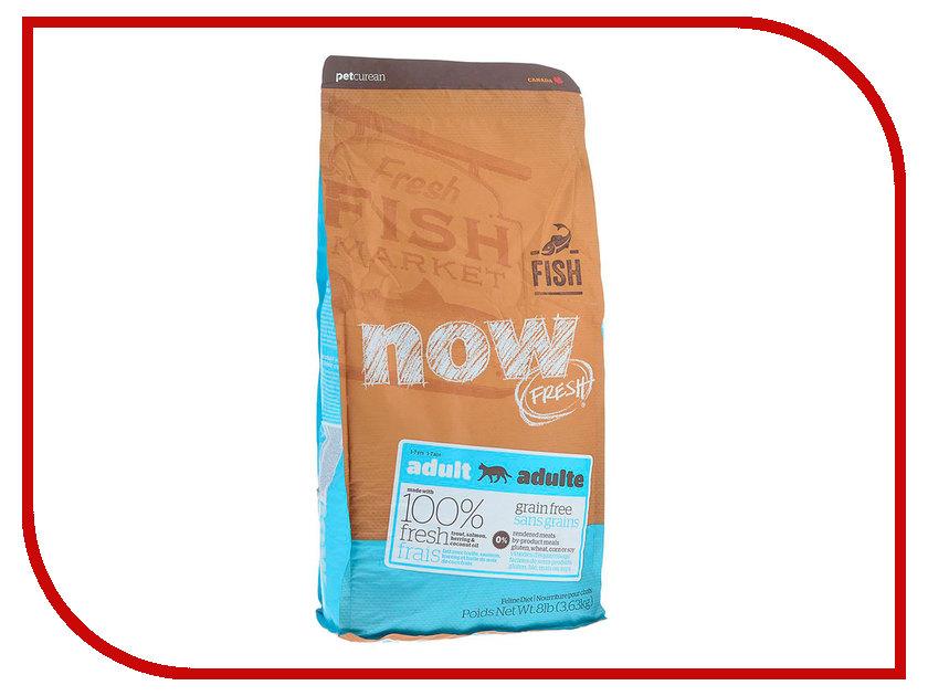Корм Now Fresh Беззерновой c Форелью и лососем 3,63kg чувствительного пищеварения,для взрослых кошек 42855 консервы для кошек monge lechat с лососем и креветками 100 г