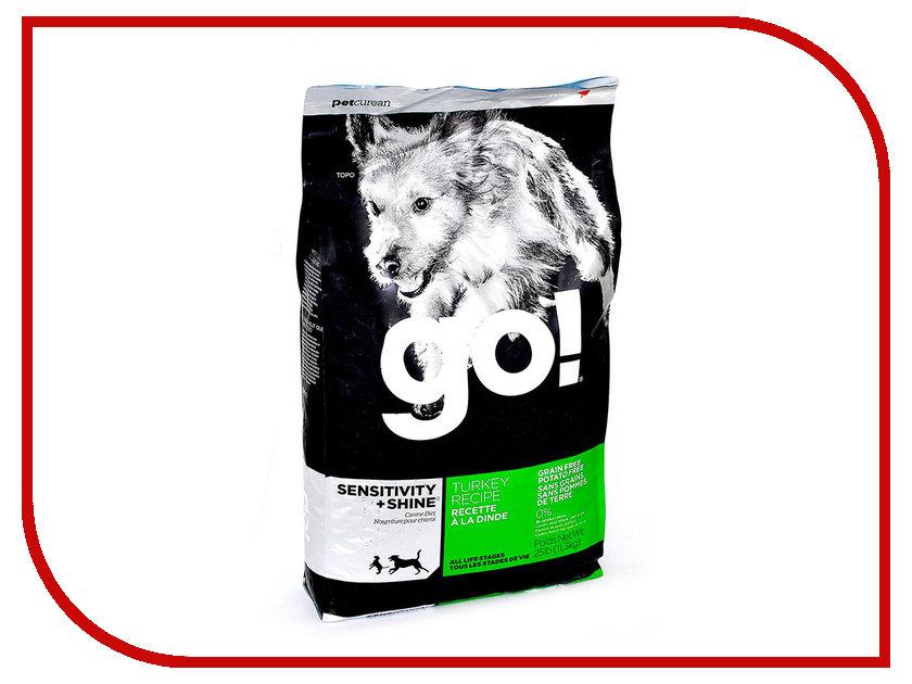 Корм GO! Индейка 11,35kg для Щенков и собак с чувствительным пищеварением 56664 / 01212 женские часы go girl only go 694925