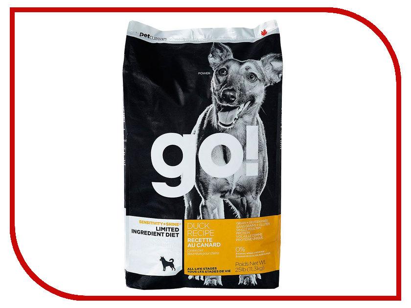 Корм GO! Утка 11,35kg для Щенков и собак с чувствительным пищеварением 42842