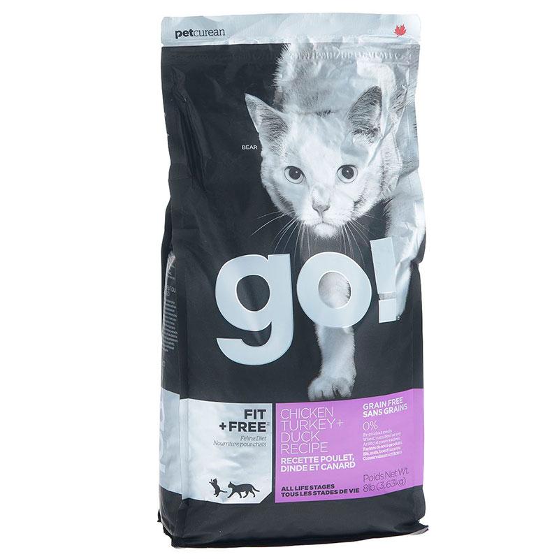 Корм GO! Курица,Индейка,Утка и Лосось 3,63kg для котят кошек 39575
