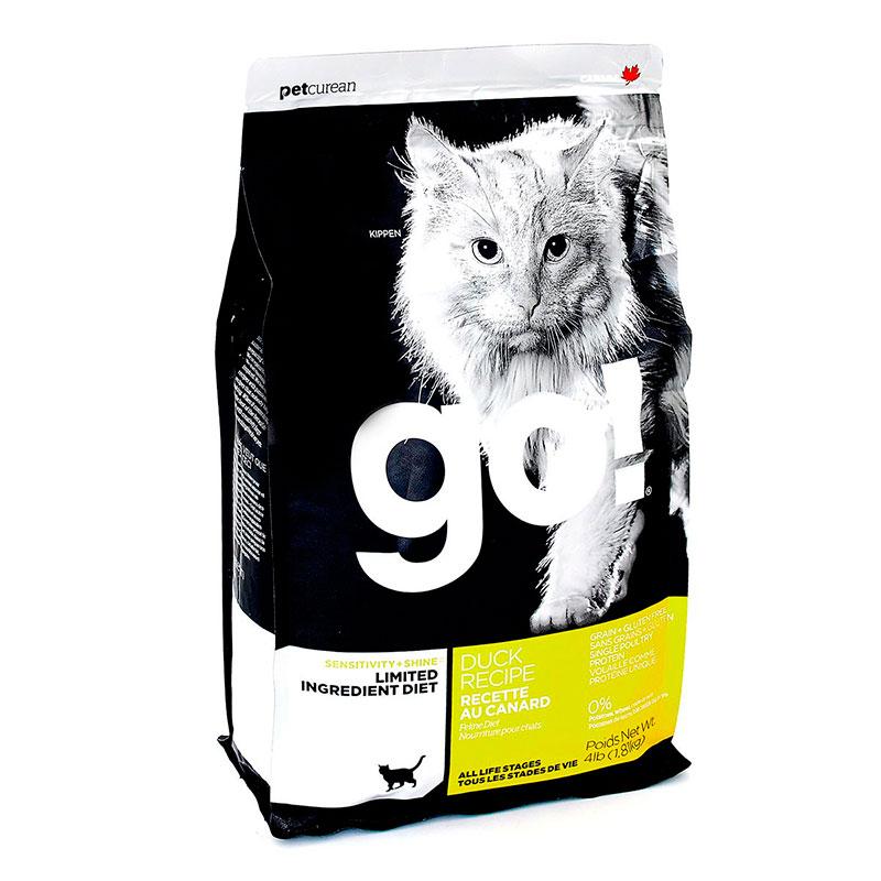 Корм GO! Утка 1,82kg для котят и кошек с чувствительным пищеварением 42844 / 01496