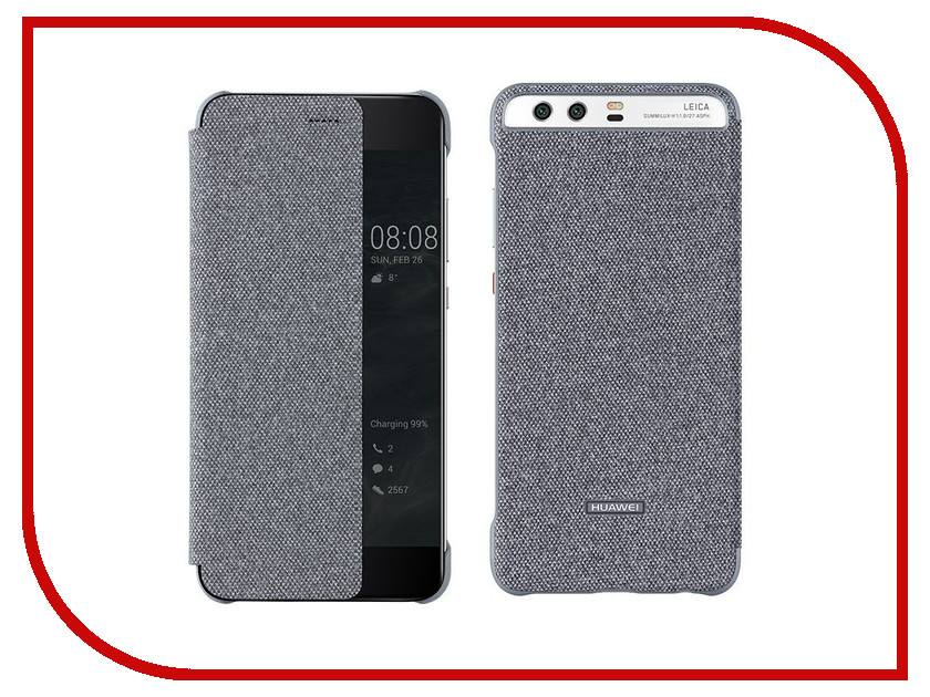 Аксессуар Чехол Huawei P10 Smart Cover Dark-Grey
