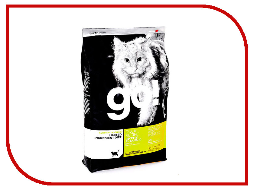 Корм GO! Утка 7,26kg для котят и кошек с чувствительным пищеварением 42846 женские часы go girl only go 694925