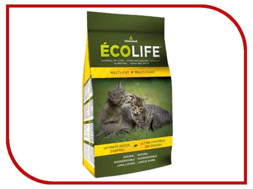 Наполнитель Intersand EcoLife Multi-Cat 4.54kg 62933