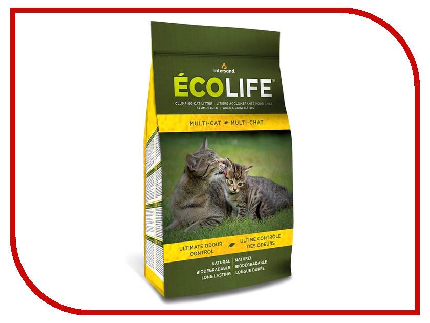 Наполнитель Intersand EcoLife Multi-Cat 9.7kg 62941