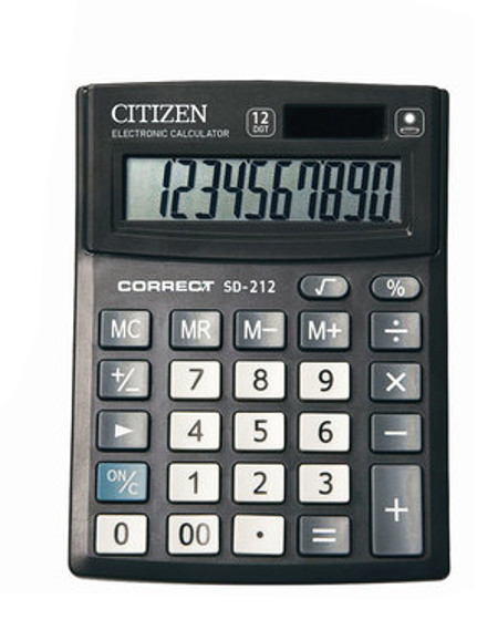 Калькулятор Citizen SD-212 - двойное питание