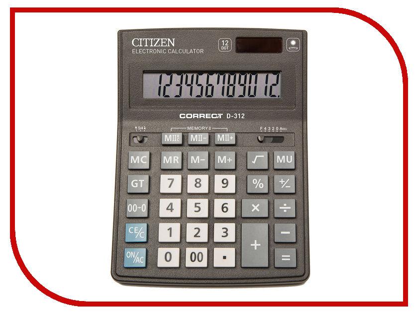 Калькулятор Citizen D-312 / CDB1201BK двойное питание pro svet light mini par led 312 ir