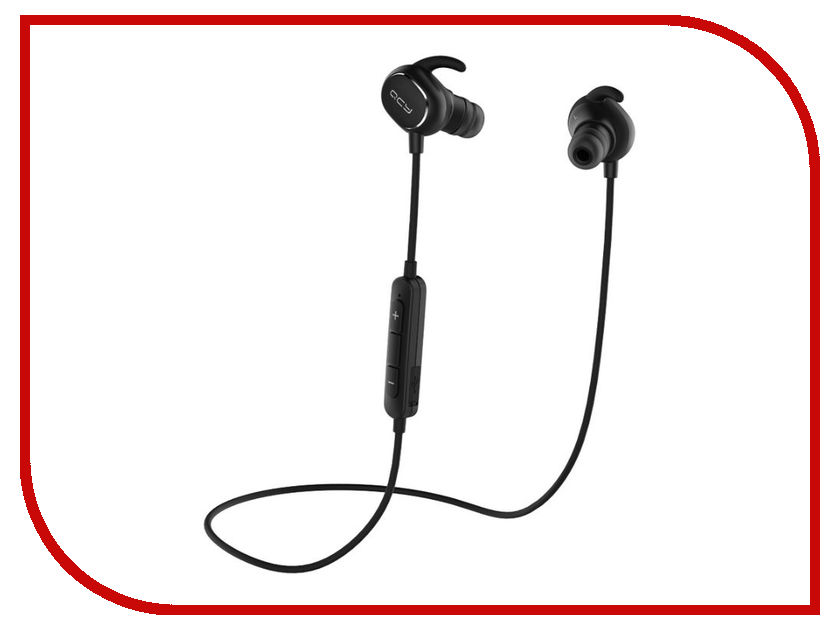 QCY QY19 Black qcy qy19 bluetooth 4 1 headphones wireless workout earbuds