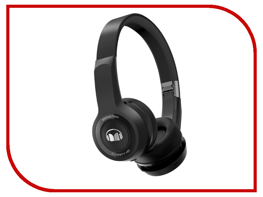 Monster Clarity HD Bluetooth Black On-Ear Wireless 137060-00 monster black platinum ultimate hdmi 3m 140748 00