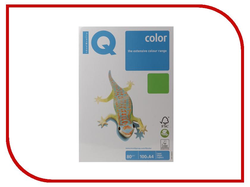 Бумага IQ color А4 80 g/m2 100л Green MA42 110840