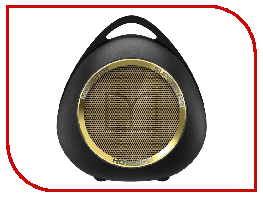 Колонка Monster SuperStar HotShot Portable Bluetooth Black with Gold 129289-00 портативная колонка monster superstar blaster 129287 00