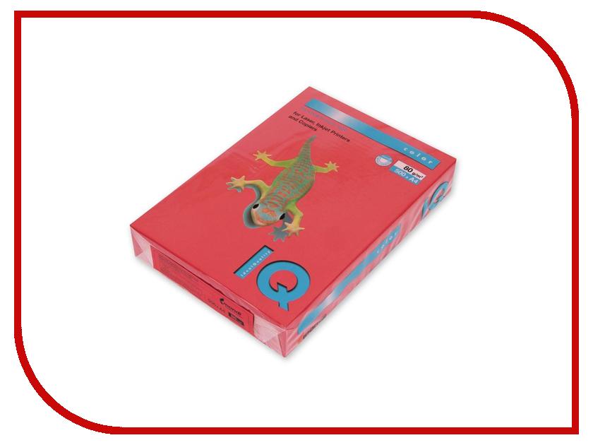 Бумага IQ Color А4 80 g/m2 100л Red CO44 110842