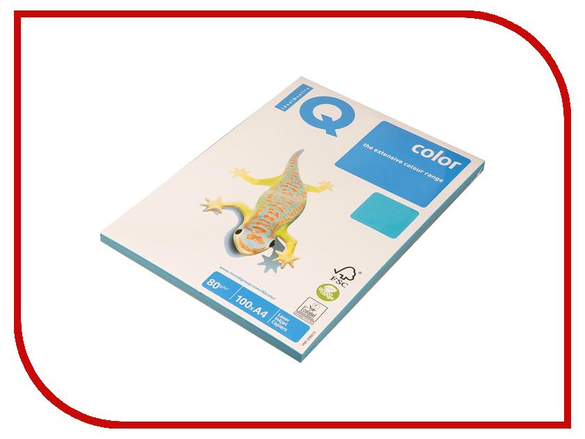 Бумага IQ Color А4 80 g/m2 100л Blue AB48 110843