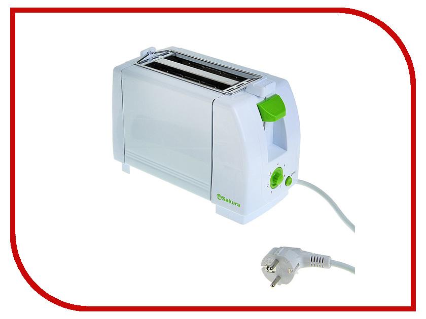 Тостер Sakura SA-7600G White-Green braun multitoast ht400 white тостер