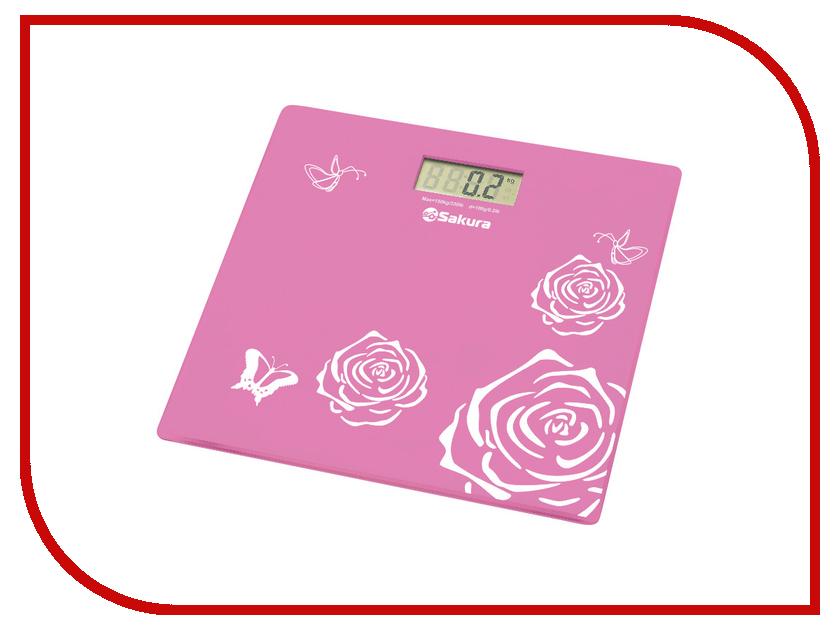 Весы напольные Sakura SA-5065 Pink весы sakura sa 6017p pink