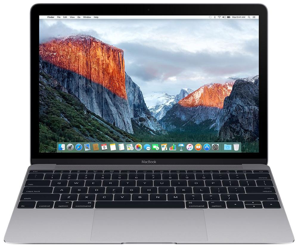 Ноутбук APPLE MacBook 12 Space Grey MNYF2RU/A (Intel Core m3 1.2 GHz/8192Mb/256Gb/Intel HD Graphics 615/Wi-Fi/Bluetooth/Cam/12.0/2304x1440/macOS Sierra) ноутбук apple mnyf2ru a