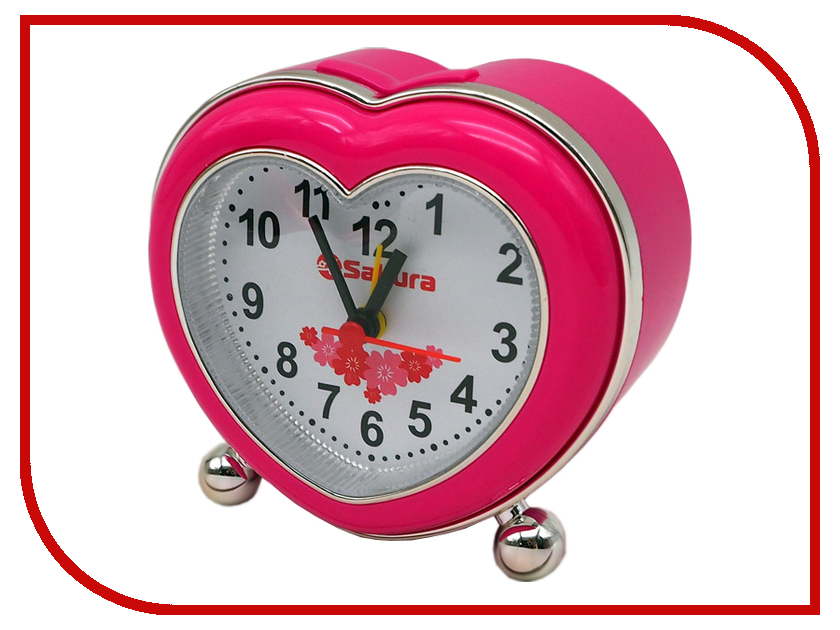 Часы Sakura SA-8510P Pink электробритва sakura sa 5409bk