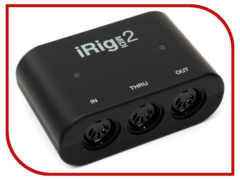 Аудиоинтерфейс IK Multimedia iRig MIDI 2 ik multimedia irig pre