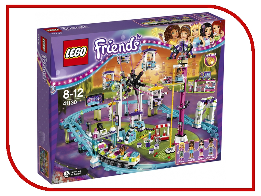 Конструктор Lego Friends Парк развлечений Американские горки 41130 lego friends 41129 конструктор парк развлечений фургон с хот догами
