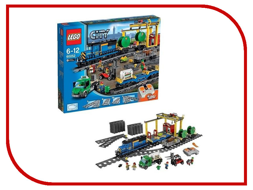 Конструктор Lego City Грузовой поезд 60052 lego city конструктор внедорожник каскадера 60146