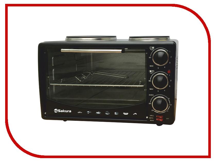 Мини печь Sakura SA-7014HBK Black утюг sakura sa 3045sbl