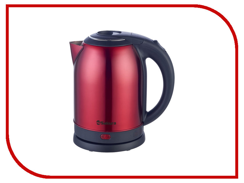 Чайник Sakura SA-2121 Black-Red термопот sakura sa 334rs steel red page 2