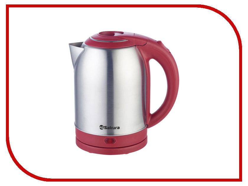 Чайник Sakura SA-2121 Silver-Red термопот sakura sa 314rs steel red