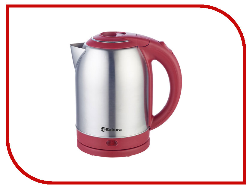 Чайник Sakura SA-2121 Silver-Red термопот sakura sa 334rs steel red page 1