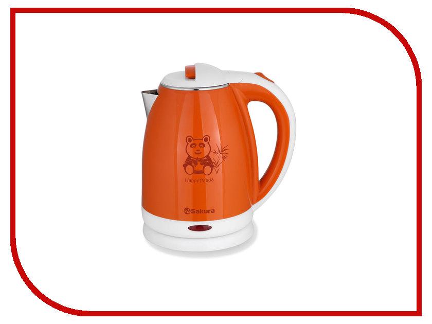 Чайник Sakura SA-2138 White-Orange электробритва sakura sa 5409bk