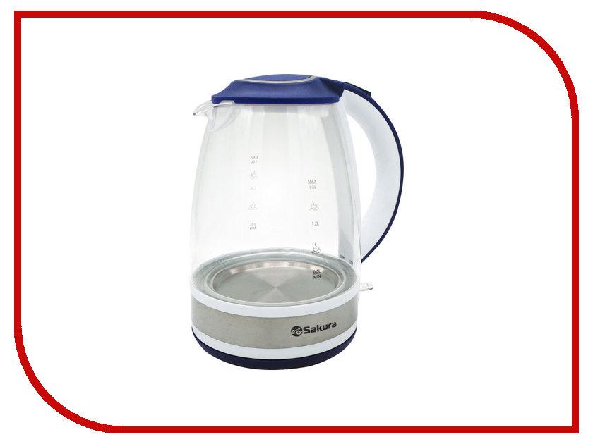 Чайник Sakura SA-2711 White-Blue электробритва sakura sa 5409bk